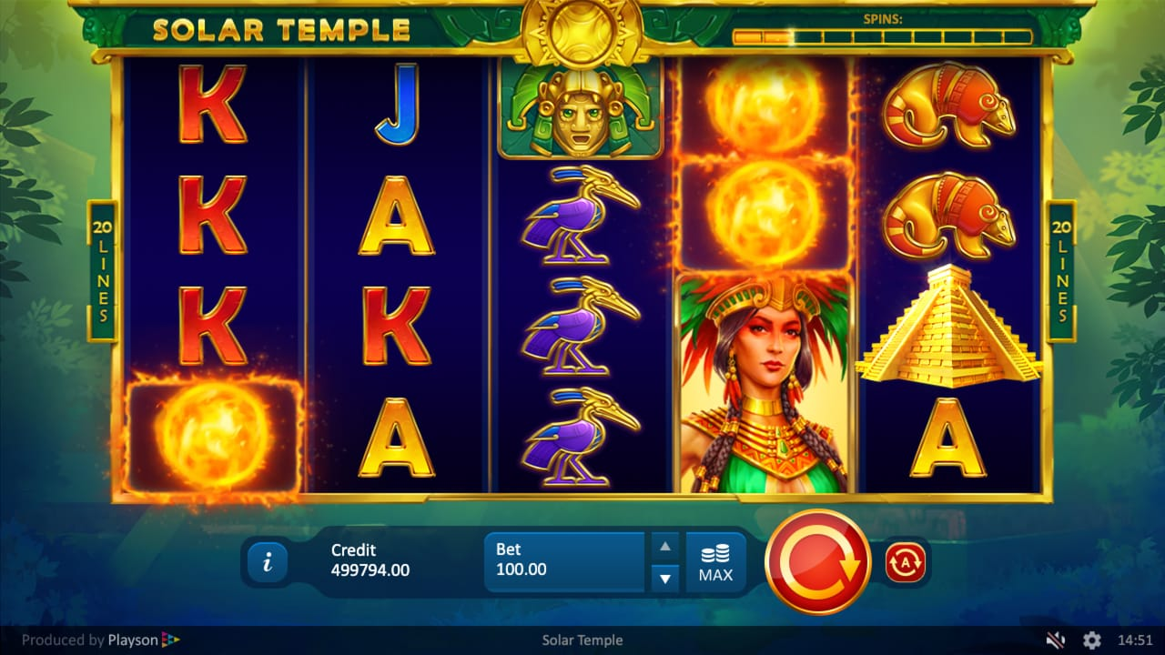 Solar Temple Slot Game
