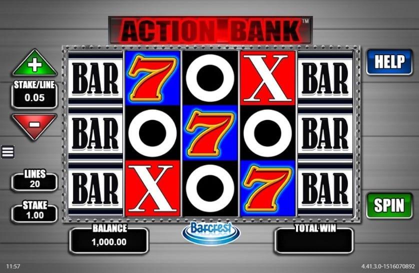 Action Bank Slots Reel
