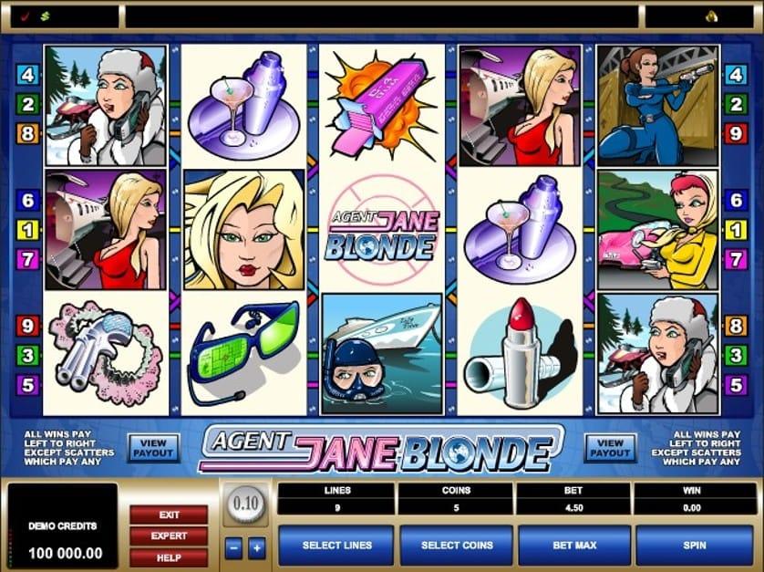 Jane Blonde Slots UK