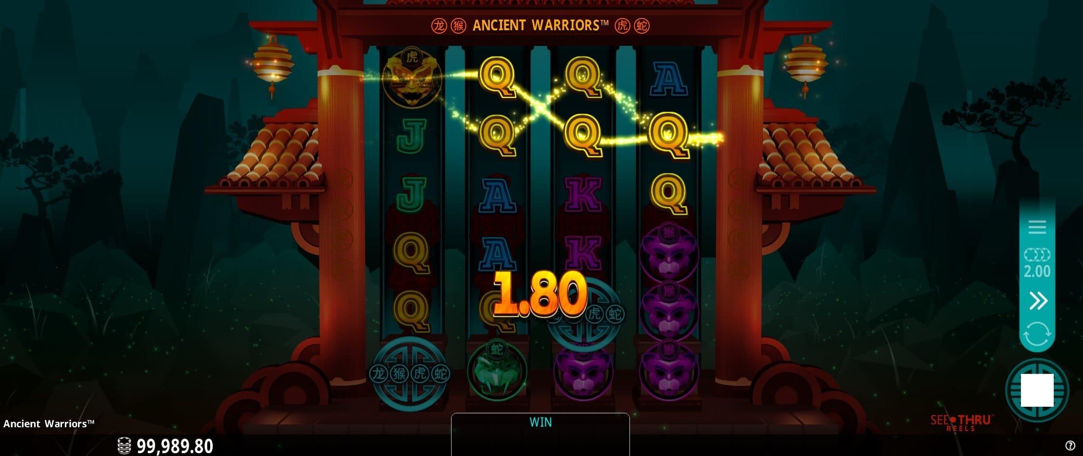 Ancient Warriors Slot Win