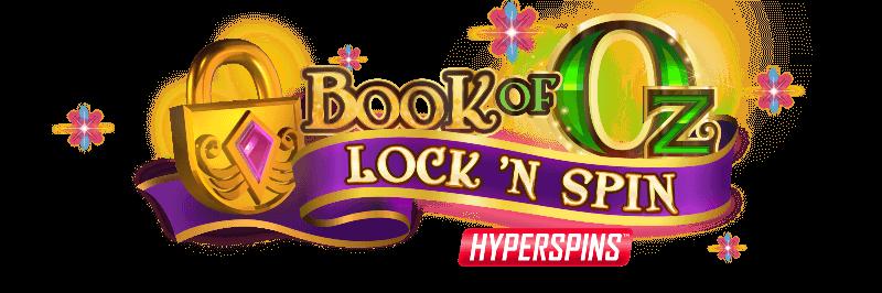 Book of Oz Lock 'N Spin Slot Logo Slots Racer