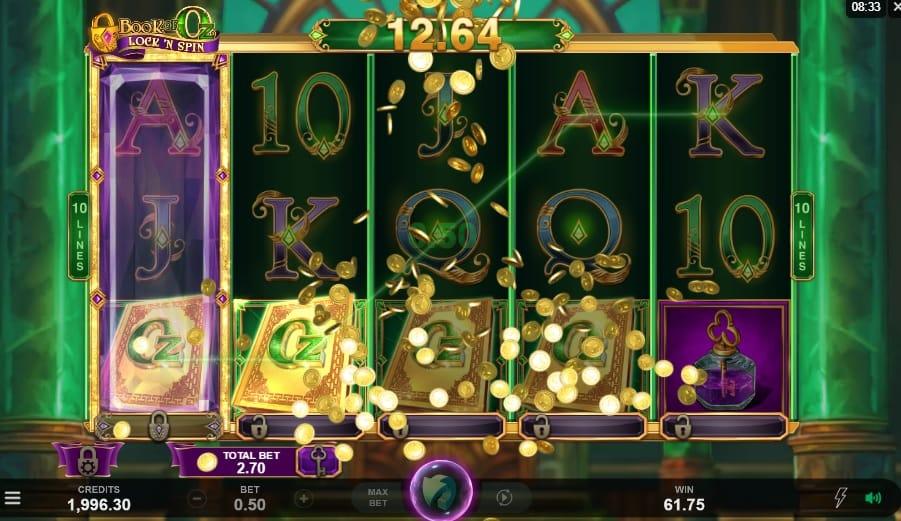 Book of Oz Lock 'N Spin Slots Gameplay