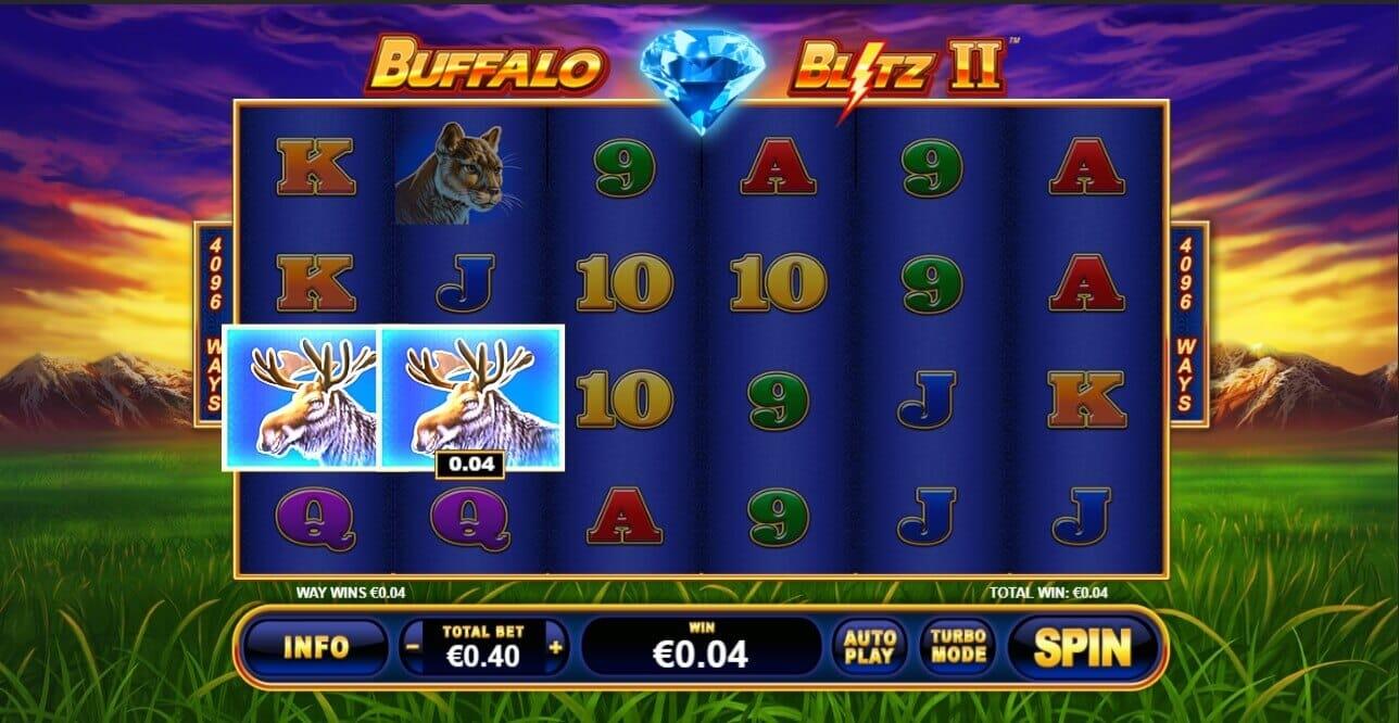 Buffalo Blitz II Slot Gameplay