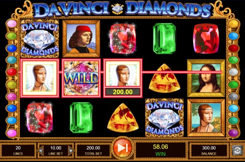 Da Vinci Diamonds gameplay casino