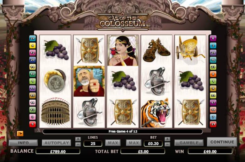 Call of the Colosseum Slot UK
