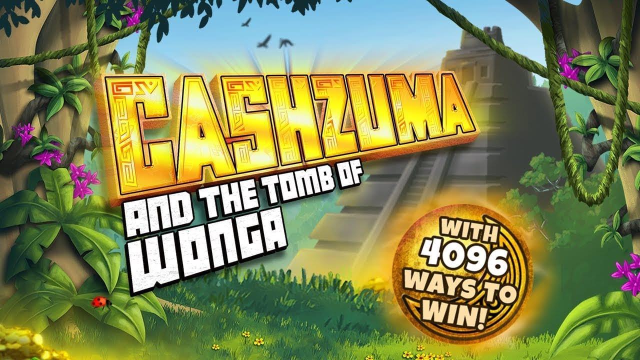 Cashzuma and the Tomb of Wonga Slot Logo Slots Racer