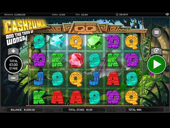 Cashzuma and the Tomb of Wonga Slots Gameplay