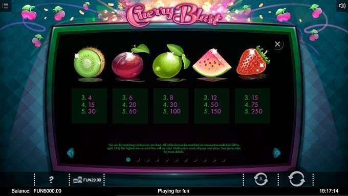 Cherry Blast Casino Game