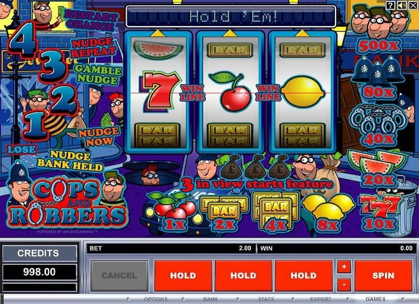 Cops and Robbers Video Slot
