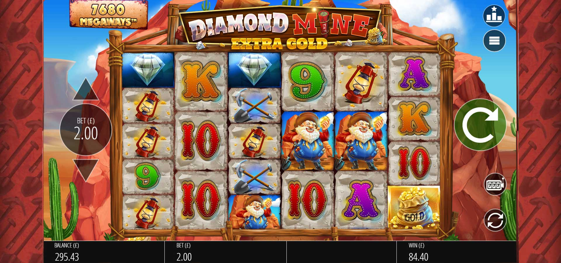 Diamond Mine Extra Gold Slots Game