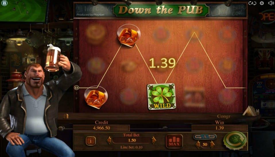 Down the Pub Slots Game