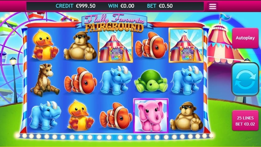 Fluffy Favourites Fairground Jackpot Slot Games