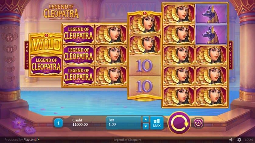 Legends of Cleopatra Slots Reels