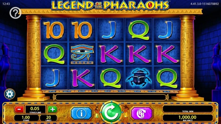 Legend of the Pharaohs Slot Gameplay