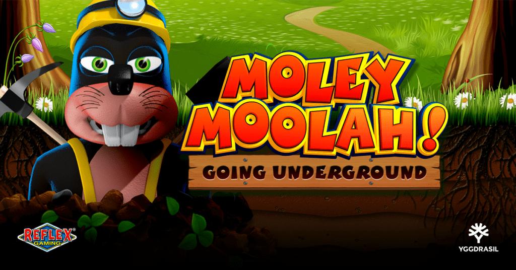 Moley Moolah Slot Logo Slots Racer