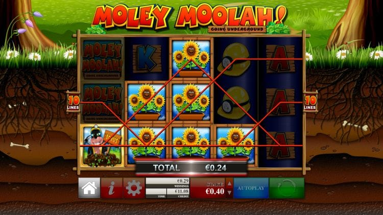 Moley Moolah Slot Gameplay