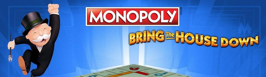 MONOPOLY Bring The House Down Slot Logo Slots Racer