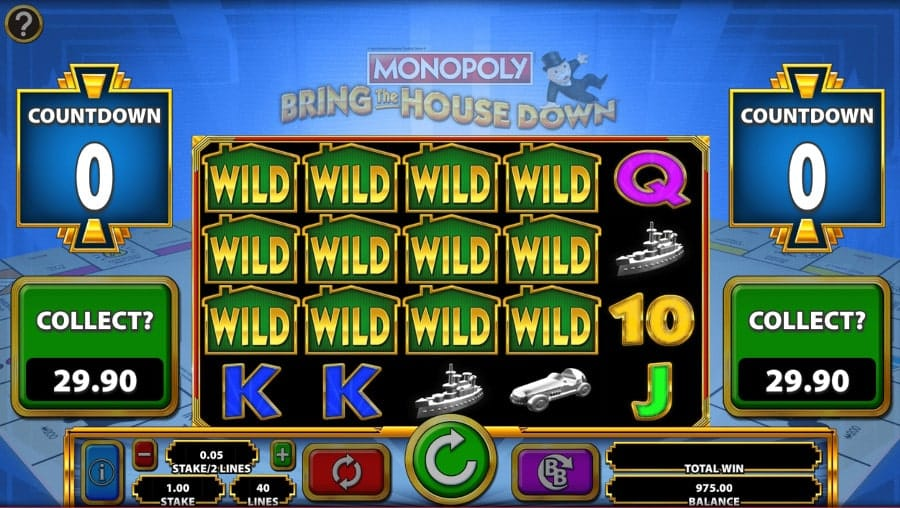 MONOPOLY Bring The House Down Slot Wild