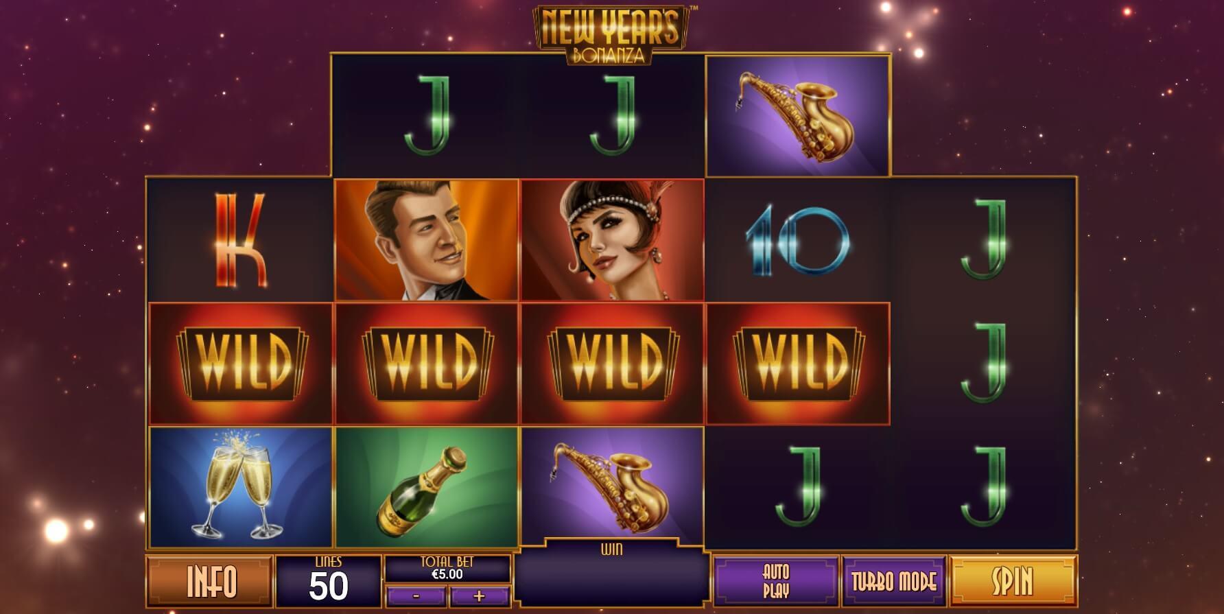 New Year's Bonanza Slot Gameplay
