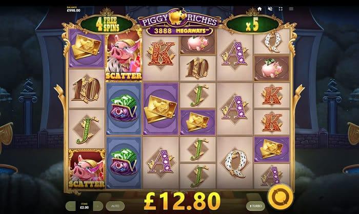 Piggy Riches Megaways Slot Machine Gameplay