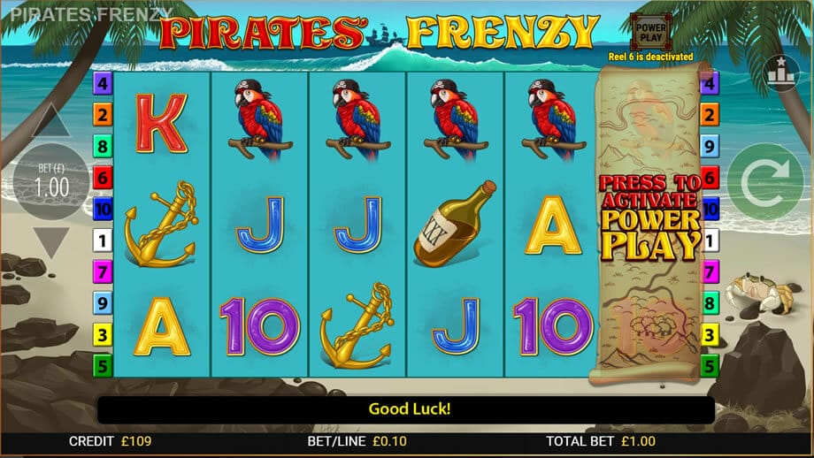 Pirates Frenzy Slot Machine Bonus Features
