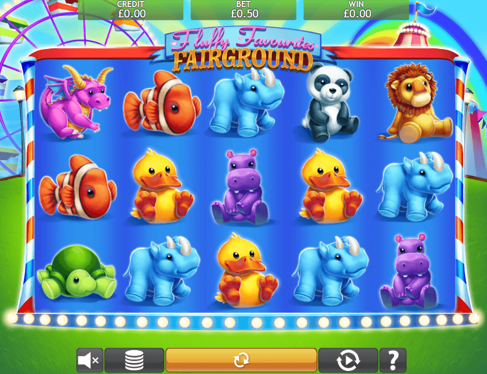 Fluffy Favourites Fairground Jackpot Slots Game