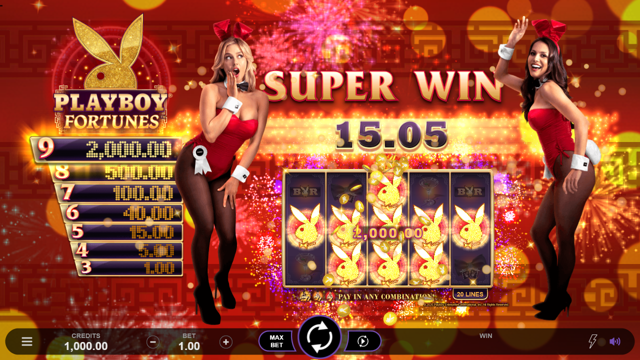 Playboy Fortunes Slot Win