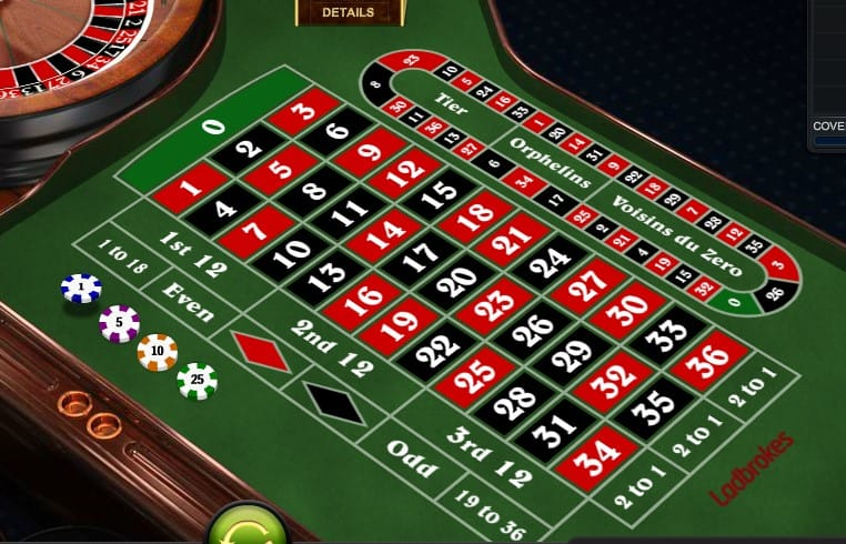 European Roulette Casino Table
