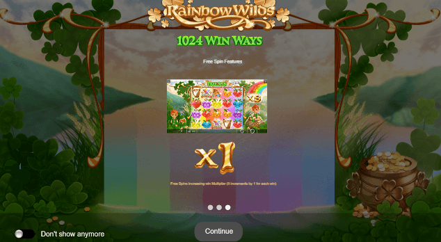 Rainbow Wilds Slots Features