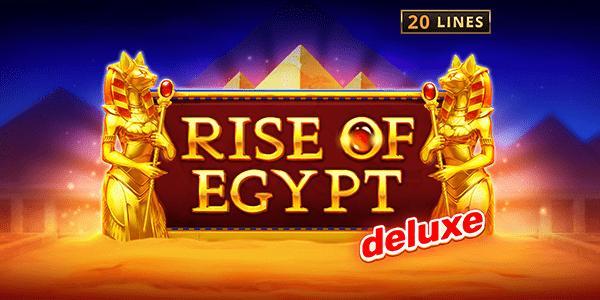 Rise of Egypt Deluxe Slot Logo Slots Racer