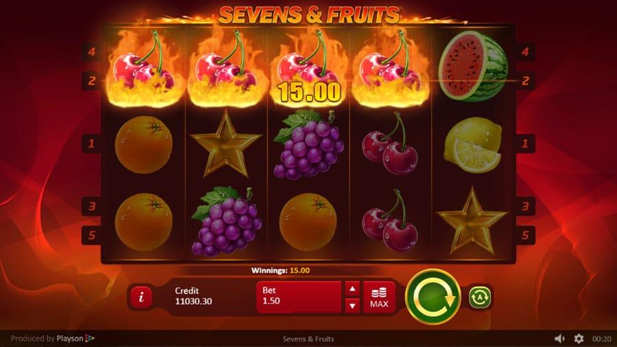 Sevens and Fruits Free Slots