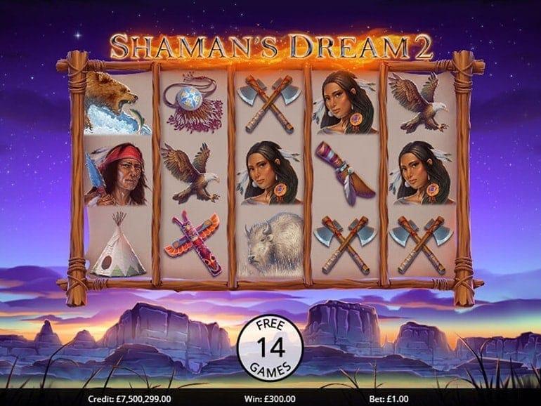 Shaman's Dreams 2 Slots Gameplay