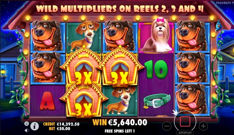 The Dog House Slots Reels