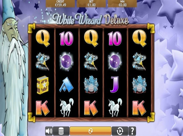White Wizard Deluxe Slot Game Play