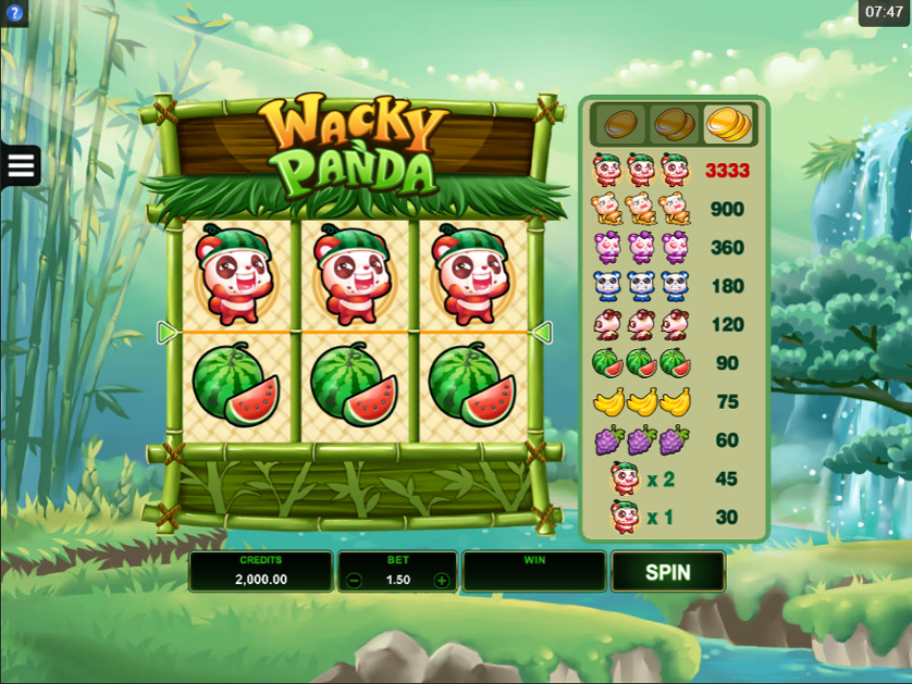 Wacky Panda Slot Game