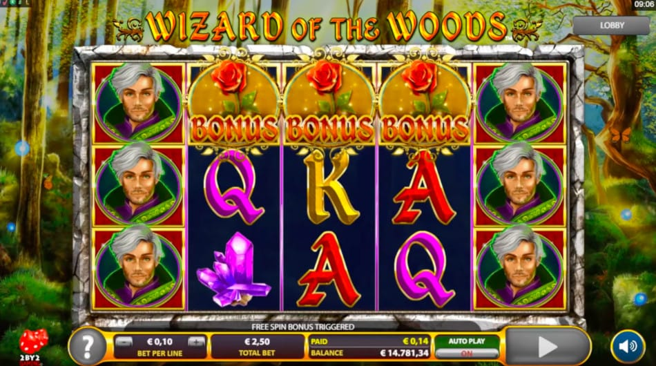 Wizard of The Woods Free Slots