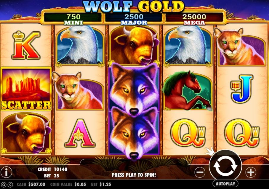 Wolf Gold Slots Play