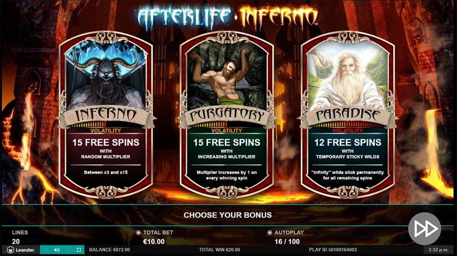 Afterlife Inferno Slot Symbols