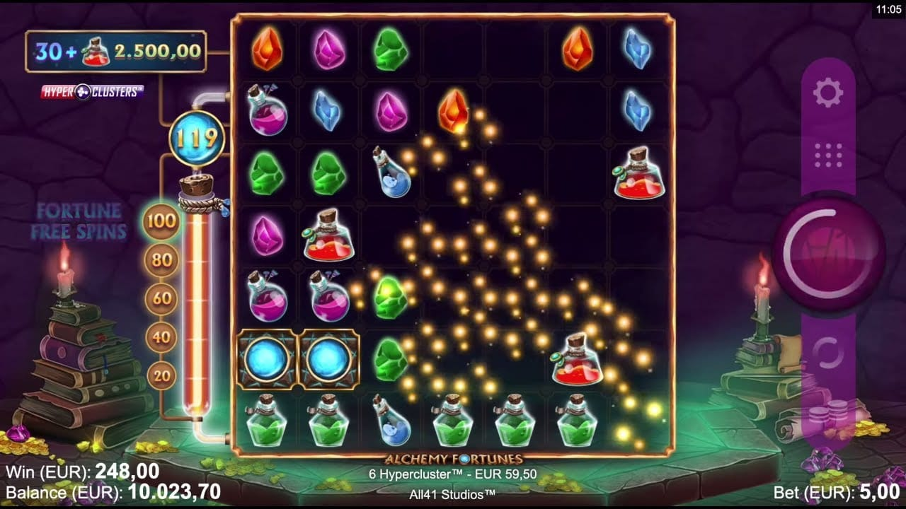 Alchemy Fortunes Slots Reels