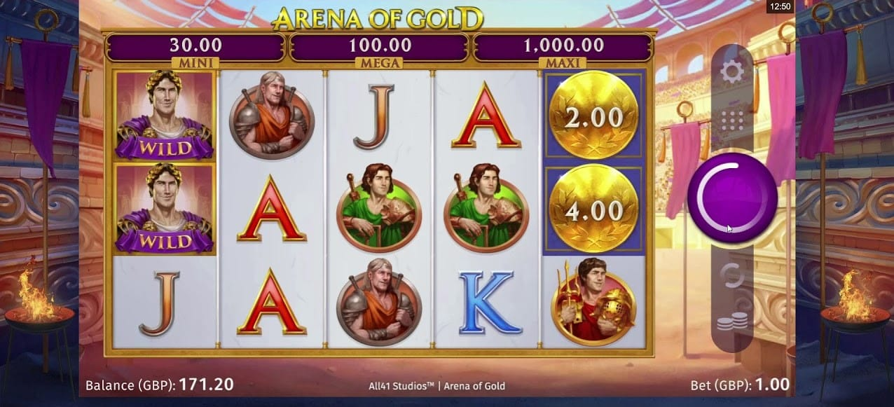 Arena of Gold Slots Game