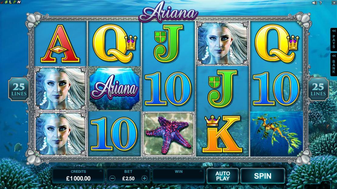 Ariana Slot Game UK