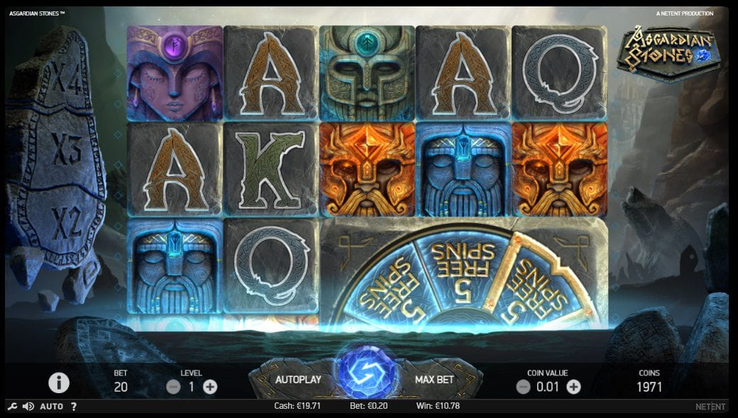 Asgardian Stones Casino Gameplay