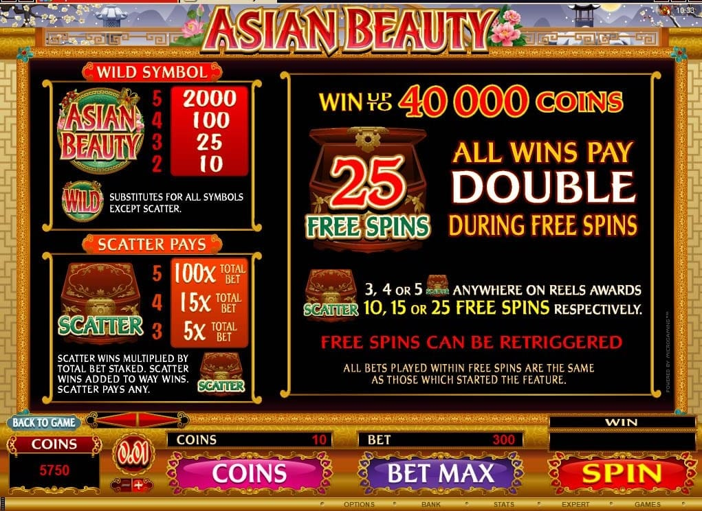 Asian Beauty Slot Symbols