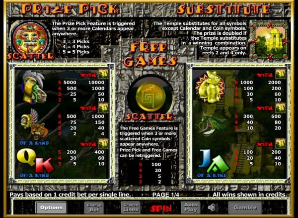 Aztec Rising Casino Game Play