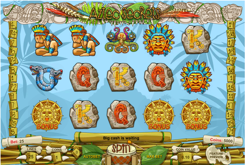 Aztec Secrets Casino Game Play