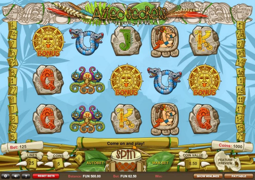 Aztec Secrets Slots Game Play