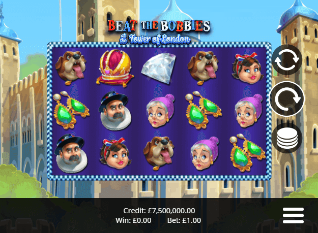 Beat the Bobbies Tower of London Free Slots