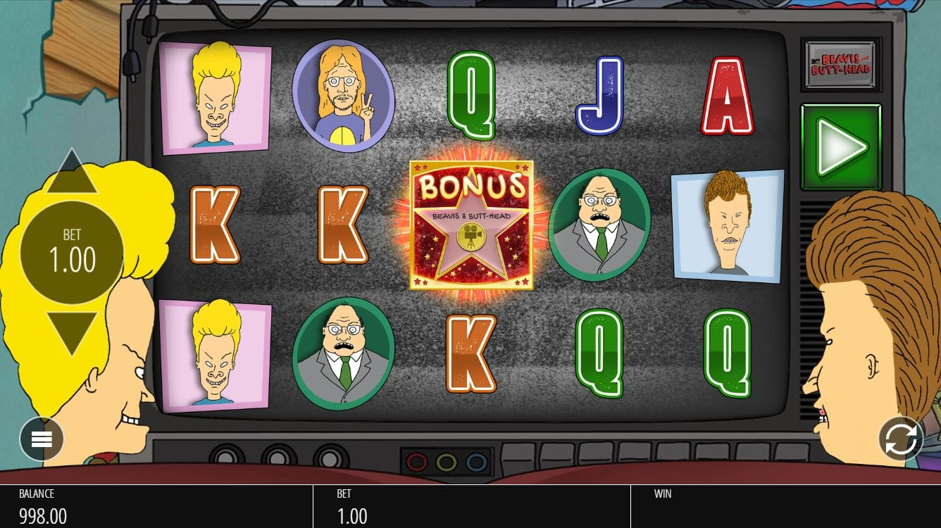 Beavis and Butthead Slot Gameplay Slots Racer