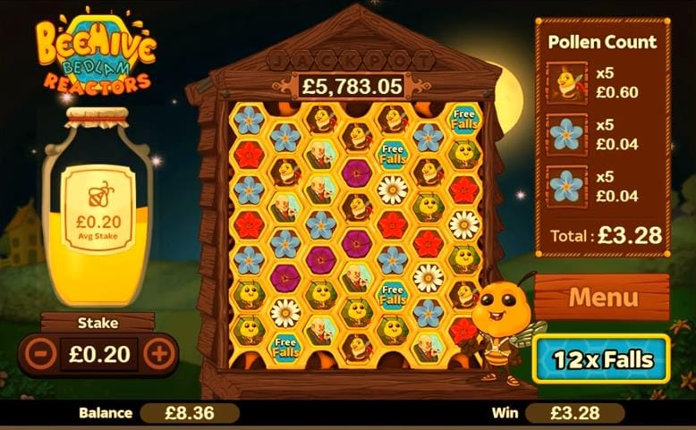 Beehive Bedlam Slots UK