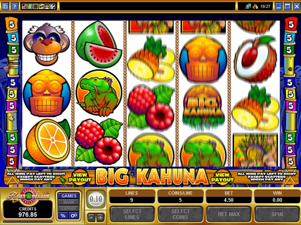 Big Kahuna Game Play